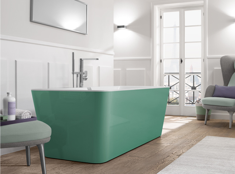 Squaro Edge 12 bathtub, Sencha